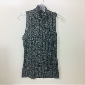 Forever21 Top Black Grey Sleeveless Si